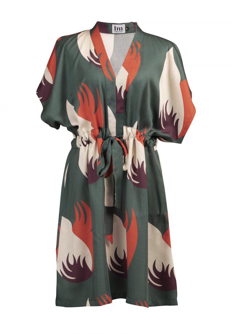 robe kimono créateur imprimés ceinture femme