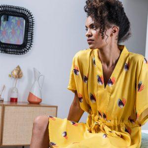 Robe kimono de créateur pour femme