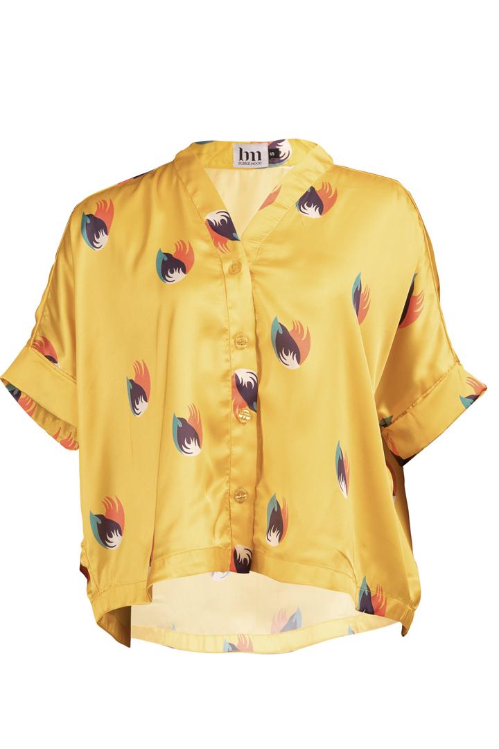Découvrez notre chemise pour femme Shanghai Jaune, l'incontournable de votre dressing